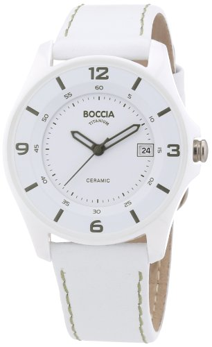 Boccia Women's Quartz Watch Ceramic 3226-02 with Leather Strap