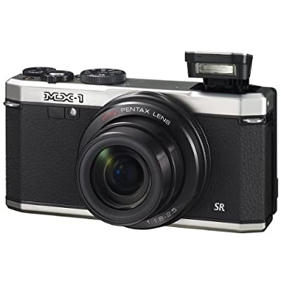 Pentax MX-1 Silver 12MP Digital Camera with 4x Optical Image Stabilized Zoom and 3-Inch LCD Display