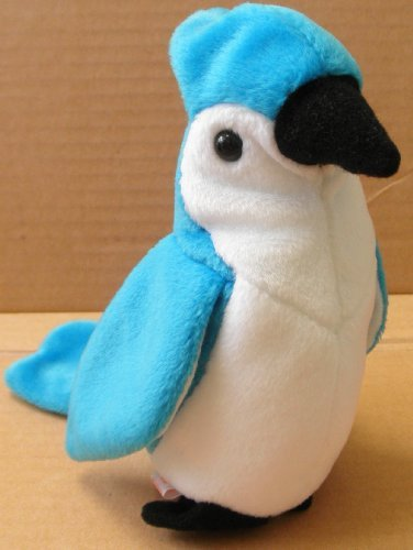 TY Beanie Babies Rocket the Blue Jay Bird Plush Toy Stuffed Animal
