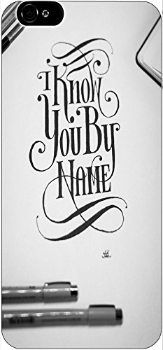 I Know You By Name Christian Quote Bible Verses Pattern Print High Quality Hard Plastic Cover Protector Sleeve Case For Apple Iphone 6 4.7 Inches front-1064266