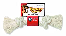 Flossy Chews Colossal 19-Inch 100-Percent Cotton White Rope Bone