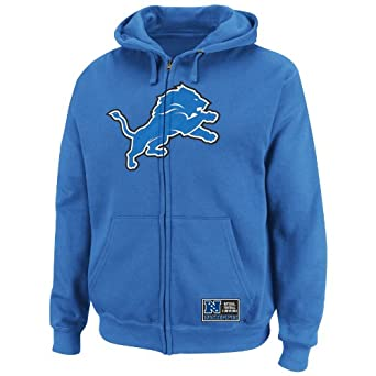 NFL Mens Detroit Lions Classic Heavyweight III Sport Blue Long Sleeve Full Zip Fleece... by VF LSG
