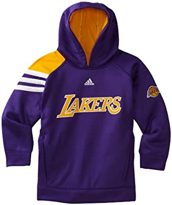 NBA Los Angeles Lakers On Court Long Sleeve Popover Fleece - R289Oela Youth by adidas
