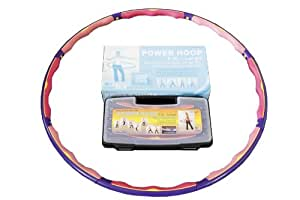 Weight Loss Sports Hoop® Series: Power Hoop® 5C - 4.6lb (2.1kg) Large, Weighted Fitness Exercise Hula Hoop(with carrying case)