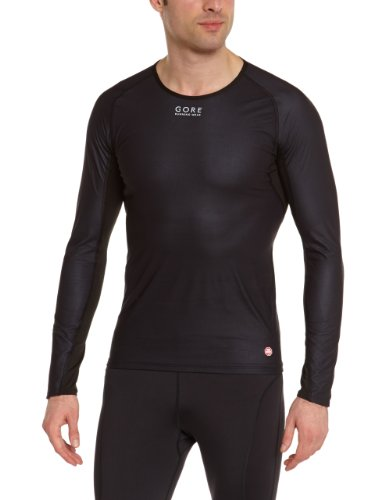 GORE RUNNING WEAR Essential Mens Baselayer Windstopper Thermo Shirt Black black Size:S