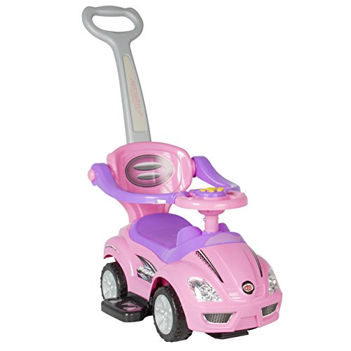 Best-Choice-Products-Kid-Ride-On-3-In-1-Push-Car-Toddler-Wagon-W-Handle-Horn-Music-Outdoor-Stroller-Pink
