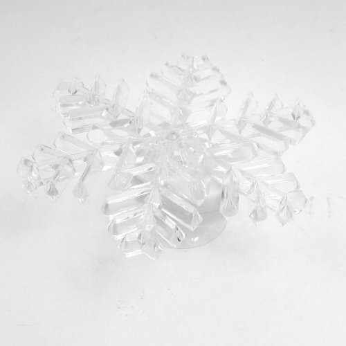 Decorative Clear Plastic Shell Colors Changing Suction Cup Snowflake Led Light