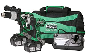 Hitachi KC18DDL 18-Volt Li-Ion Impact Driver and Drill Combo Kit