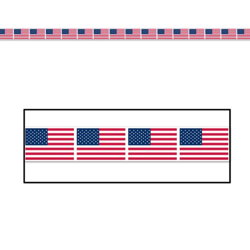 American Flag Party Tape Party Accessory (1 count) (1/Pkg)