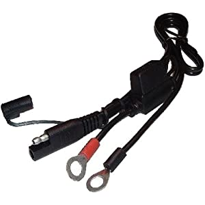Battery Tender Snap Cord Super Smart Replacement Parts Motorcycle Battery Charger - Color: Black