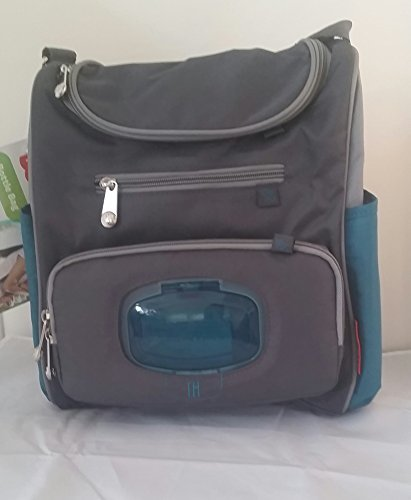 Fisher Price Grey and Teal Bottle Bag with the Fastfinder Pocket System