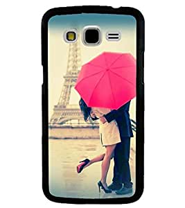 Printvisa Love Couple Under An Umbrella Back Case Cover for Samsung Galaxy J7::Samsung Galaxy J7 J700F