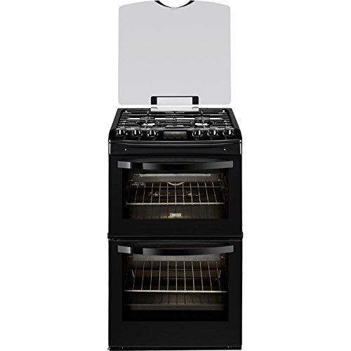 Zanussi ZCG43200BA Black 55cm Double Oven Gas Cooker