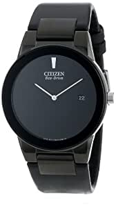 "Citizen Men's AU1065-07E  Eco-Drive ""Axiom"" Watch with Black Leather Strap"