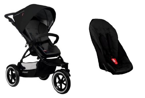Phil and Teds Navigator Stroller with Doubles Kit (Black) (Black) - 1