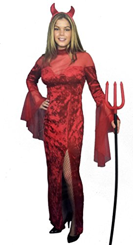 Red Devil Dress Costume (Size: X-Small 3-5)