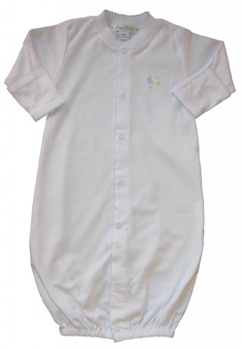 Kissy Kissy Baby Boys Homeward Bound Moon And Stars Embroidered Convertible Gown-Newborn front-998019