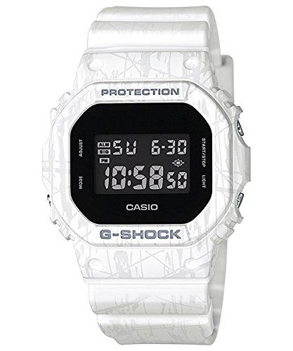 Casio G-Shock DW-5600 Slash Pattern Stylish Watch - White / One Size