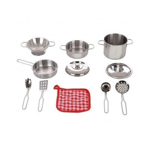 stainless-steel-cookware-11-pc-playset-pots-pans-colander-strainer-utensils-oven-mitt-by-walgreens
