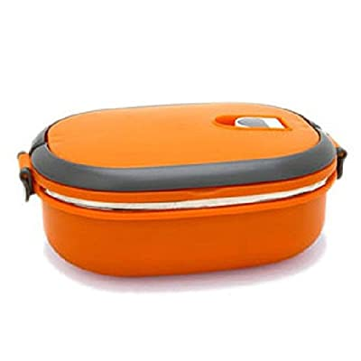 COFFLED Stainless Steel Bento Lunch Box,Premium Leak-proof Portable Food Storage Container,Perfect Super-easy-carrying Bento Box with Super High Quality for Students&Adults?Orange Color)