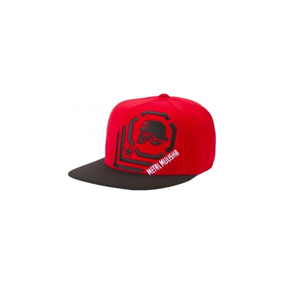 0399c8218059d Metal Mulisha Corner Mens Flexfit Racewear Hat Black Red   Large X ...