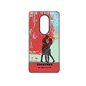 Vibhar printed case back cover for Xiaomi RedMi Note 3 Couple
