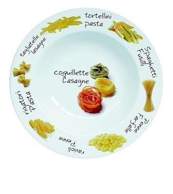 Assiette à Pâtes porcelaine décoréee 27cm 2630037 - réception - Lot de 6