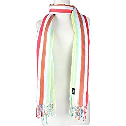 Vozaf Women's Silk Stoles & Scarves - Multi Color