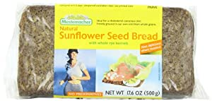 Mestemacher Sunflower Seed Bread, 17.6-Ounce Packages (Pack of 12)