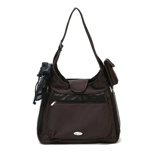 Momo Baby Shoulder Bag Diaper Bag, Brown