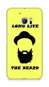 Amez designer printed 3d premium high quality back case cover for Htc One M10 (Long Live the Beard)