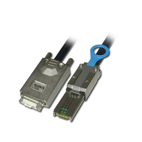LINDY-SAS-SATA-II-Multilane-Infiniband-Cable-SFF-8470-to-SFF-8088-1m
