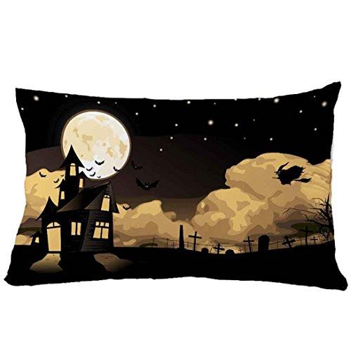 Matoen® 30*50cm Halloween Square Pillow Cover Cushion Case Pillowcase Zipper Closure (S)