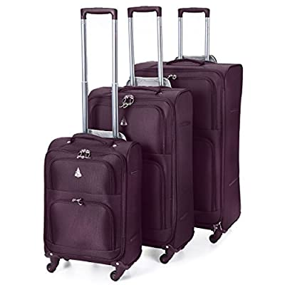 Aerolite Lightweight Luggage Trolley Suitcases, 4 Wheel Spinners Upright Carry On, Sets & Large Travel Bags