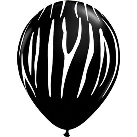"11"" Zebra Stripes Around Black"