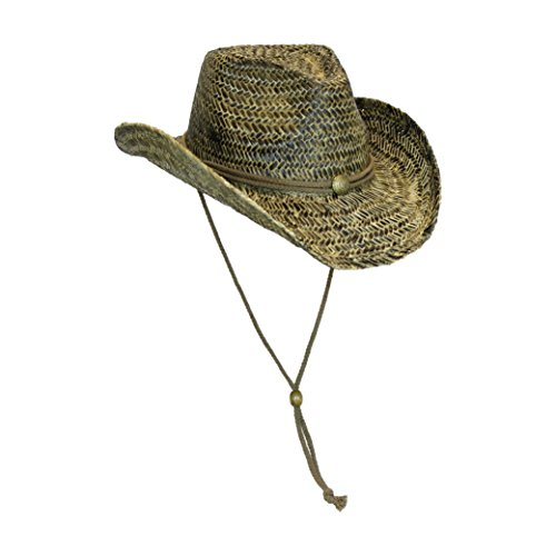 black-stained-seagrass-western-cowboy-hat-with-shapeable-brim-and-chin-strap