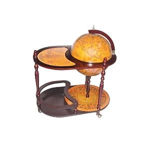 Amazon.com: Merske Arezzo Globe Bar Trolley Set, 17-1/2