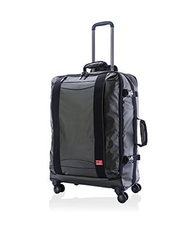 Hideo Wakamatsu Veil 26 Wheeled Suitcase, Army Green
