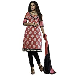 Typify Women's Chanderi Unstitched Dress Material (TYPIFY213_Multicolor_Free Size)