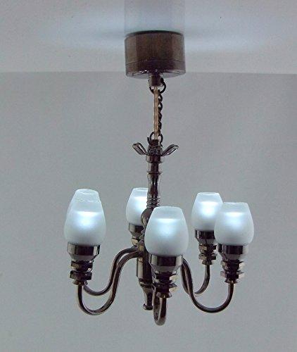 casa-de-munecas-led-bateria-lampara-techo-6-brazo-metal-cepillado-tulipa-pantalla-candelabro