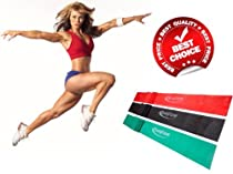 BodyTone Exercise Bands with Free Video Tutorial - Best Resistance Bands for Men and Women - Legs, Arms, Chest, Shoulders and Abs - Recommended for Rehab and Physical Therapy - Ideal for Yoga, Pilates, Insanity, PX90 - Light, Medium, Heavy Stretch Bands For Home Gym - Elastic Bands For Effectively Toning Your Body - 100% Natural Latex - Protect Your Investment With No Risk - Lifetime Guarantee