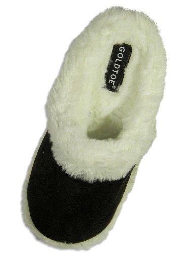 Cheap Goldtoe – Ladies Microsuede Slipper, Brown 24470 (B004S2O5VQ)