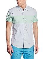 Scotch & Soda Camisa Hombre (Azul Claro / Verde)
