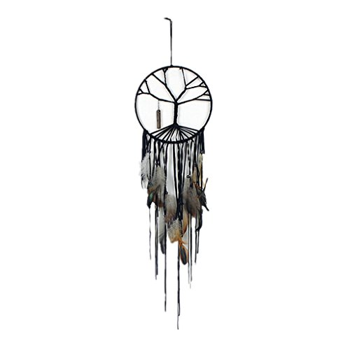 Gaosaili Handmade Beaded Feather The Tree of Life Dream Catcher