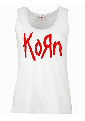 "Canotta Donna ""Korn"" - 100% cotone LaMAGLIERIA, XL, Bianco"