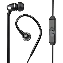JLab JBuds FIT Sport Earbuds Sweatproof and Water Resistant with In-Wire Customizable Earhooks