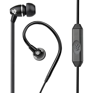 JLab JBuds FIT Sport Earbuds , Sweatproof and Water Resistant with In-Wire Customizable Earhooks