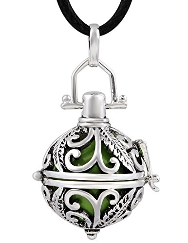 Eudora Silver Chime Locket Mexican Bola Pendant Harmony Ball Music Angel Caller Necklace
