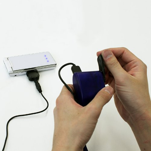 停電でも携帯電話に充電できる!手回し充電器【手動発電式携帯電話充電器】