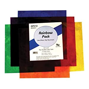 """Smith Victor Color Effects Rainbow Filter Pack with Six 12"""" x 12"""" Gel Filters."""